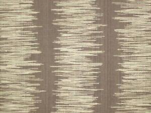JOHN HUTTON Antiquity Ikat Stripe Cotton Brown 1 yard + New