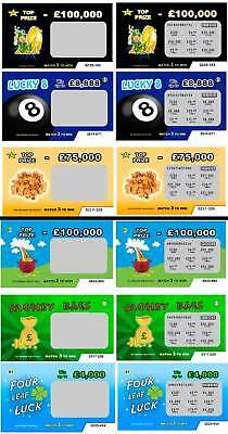 50-Joke-Prank-Lottery-scratch-cards-FAKE-6-designs-Great-for-xmas-birthdays