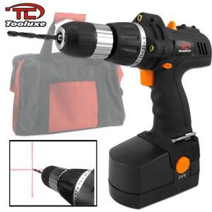 24V-Cordless-Drill-Driver-DIY-POWER-TOOLS-Home-Shop-Light-Construction-Tool-NEW