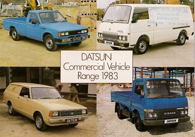 Datsun Nissan Sunny Van Pick Up Urvan Cabstar 1982-83 UK Market Sales Brochure