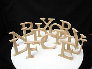 FREESTANDING WOODEN MDF LETTERS 14.5cm