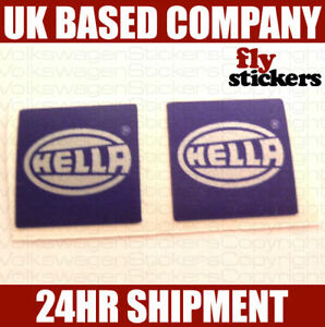 Hella-Spot-Light-Sticker-SILVER-Pair-mk1-golf-gti