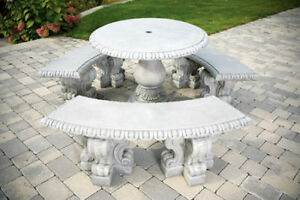 image is loading verona table set outdoor cement furniture cement furniture