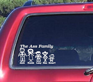 Ass-Family-Vinyl-Graphic-Decal-Car-Window-Sticker-Funny