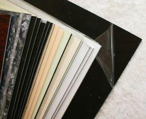 black schwarz Pickguard Rohling Platte vierlagig ca 295 x 245 x 2,6 mm