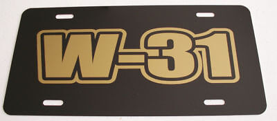 W-31 Engine Sze License Plate Hurst Oldsmobile 442 Cutlass 350 400 455 Ram Air