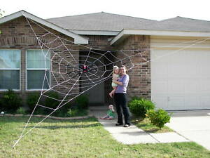 25-GIANT-Rope-Spider-Web-Halloween-House-Yard-Prop-Decoration