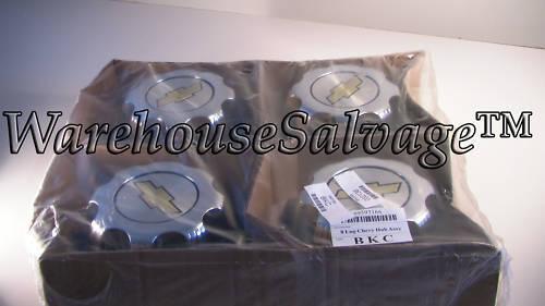 lug chevy chrome center caps steel wheel 16 oem new