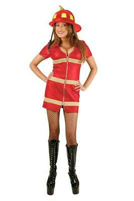 RED DOUBLE ZIP FIRE FOX COTTON HALLOWEEN COSTUME ADULT SIZE PLUS 3X 21-24