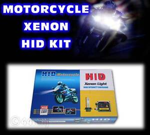 Motorcycle-Slimline-Xenon-HID-Headlight-Kit-H9-6000k-great-bike-upgrade