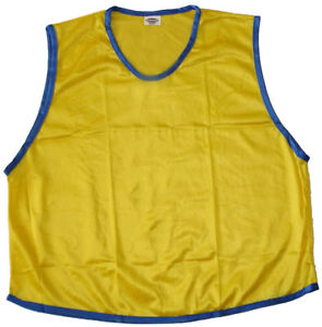 6-YELLOW-ADULT-SOCCER-BASKETBALL-MESH-SCRIMMAGE-VESTS