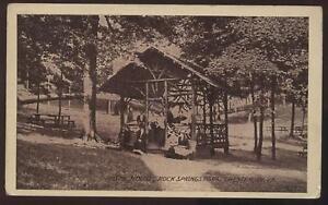 postcard chester wv rock springs park rustic hous 1907 ebay. Black Bedroom Furniture Sets. Home Design Ideas