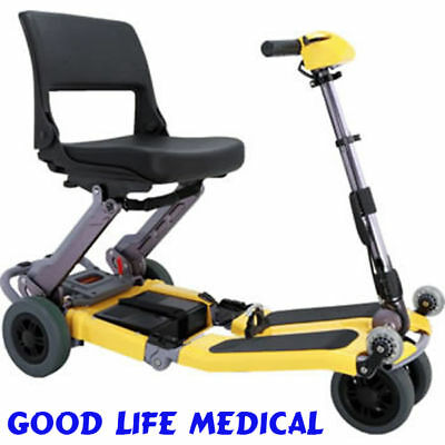 Luggie Standard Folding Mobility Scooter Cart, Li-ion Battery, Red Or Yellow