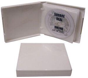 5-CDBR2412WH-White-12-Disc-Capacity-CD-DVD-Album-Book-Storage-Holder-Case-24MM