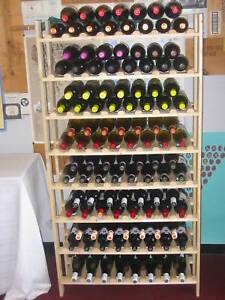 120 bottle wood wine rack, no sales tax & free ship!!!