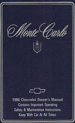 1980 Chevrolet Monte Carlo Owner's Manual