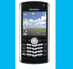 New Unlocked ATT T-Mobile Blackberry Pearl 8100 Black