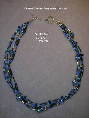 midnight Blue Necklace Those Two Cats Original