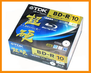 10 TDK Bluray DVD BD-R DL Blank Disc 50GB 4X Speed High Grade Series