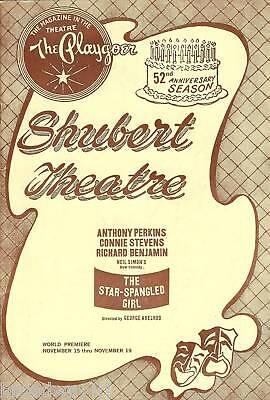 "Connie Stevens ""STAR-SPANGLED GIRL"" Anthony Perkins 1966 World Premiere Playbill"