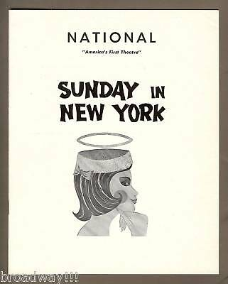 "Robert Redford ""SUNDAY IN NEW YORK"" Conrad Janis 1961 Washington Tryout Playbill"