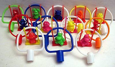 12 Animal Swingers Pencil Toppers Vending Machine Toys