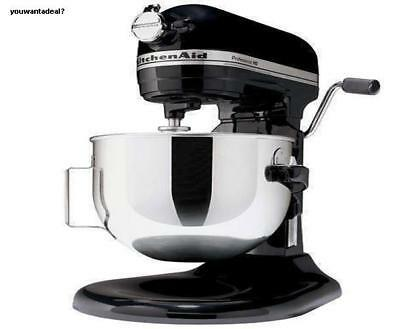 kitchenaid pro 600 rkp26m1xob stand mixer 10 speed black professional heavy duty ebay. Black Bedroom Furniture Sets. Home Design Ideas