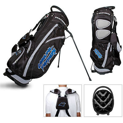 New Licensed Team Golf NFL Carolina Panthers Fairway Divider Stand Bag - Carolina Panthers Golf Bag