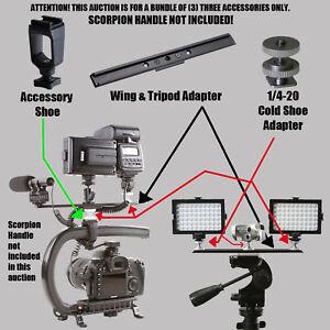 EOS 7D Nikon D90 D60 Steadycam JVC Accessories Bundle