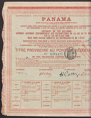 1888-Compagnie-Universelle-Canal-Interoceanique-de-Panama-bond-with-coupons