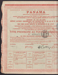 1888-Panama-Canal-French-Bond-w-coupons-rare