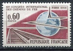 FRANCE-TIMBRE-NEUF-N-1488-CHEMINS-DE-FER-A-PARIS