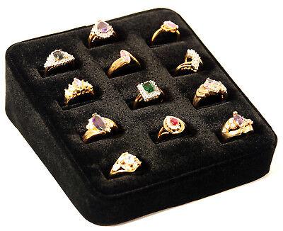 12 Ring Tray Black Velvet Jewelry Display