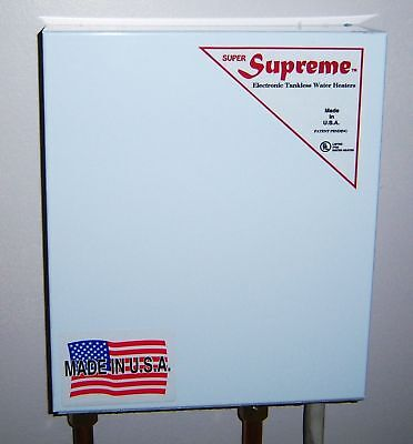 SUPREME ELECTRIC TANKLESS WATER HEATER MADE  USA 14 KW