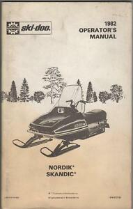 1982 SKI-DOO SNOWMOBILE NORDIK SKANDIC OPERATORS MANUAL