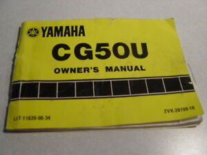 Yamaha Razz Scooter Owners Manual