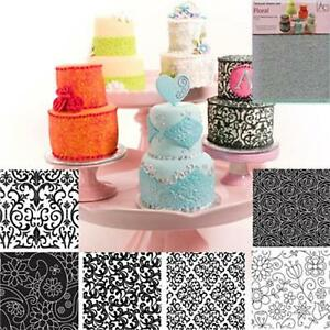 Texture-Sheet-Set-Floral-7-x10-NEW-6pc-Cake-Decorating