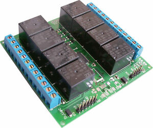 Multi-Interface-8-Way-Relay-with-I2C-Binary