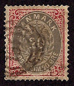 Denmark-1875-79-SC 31-Used-Coat of Arms
