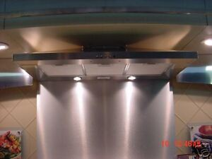 30 x30 range hood brushed stainless steel backsplash ebay