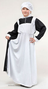 GIRLS-VICTORIAN-EDWARDIAN-NURSE-MAID-FANCY-DRESS-COSTUME-OUTFIT-NEW-6-9