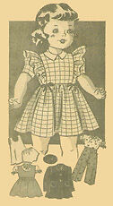 Vintage Doll Clothing Pattern 4597