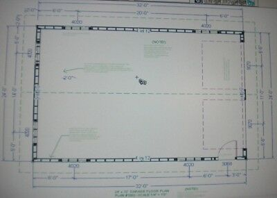24 39 x 32 39 garage shop plans materials list blueprints ebay for Material list for garage