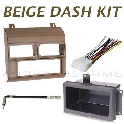 Gmc Chevy Pickup 88-94 Radio Stereo Beige/tan Dash Mount Kit+wire Harness Plug