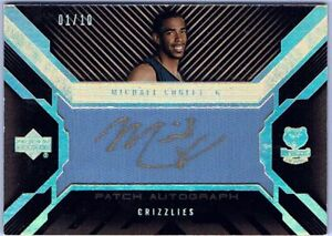 Mike Conley 07-08 UD Black Patch Auto Rookie RARE #1/10