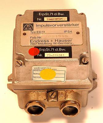 Endress+Hausser ED11 Impulsverstärker Durchflußmesser