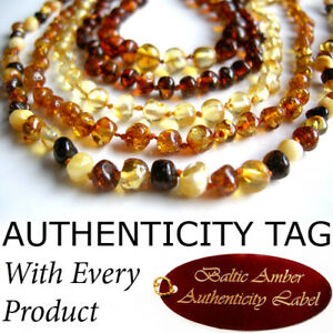 BALTIC AMBER NECKLACE Baby Teething AGbA® Certified
