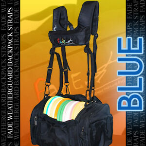 NEW-BLUE-FADE-WEATHERGUARD-Backpack-Straps-4-Disc-Golf-Tourney-Bag-rainy-days