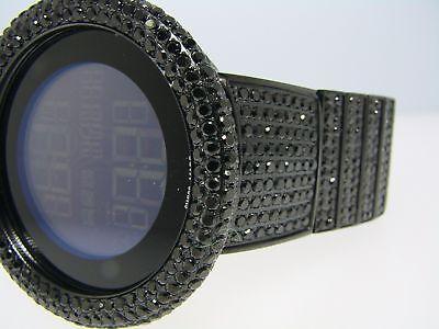 Black Diamond Black I Gucci Digital Diamond Watch 32 Ct