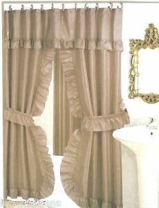 Double Swag Shower Curtain | eBay